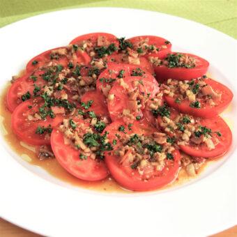 アメーラトマトのサラダ ホットドレッシング