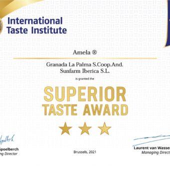 【受賞】アメーラがヨーロッパで優秀味覚賞を受賞しました。