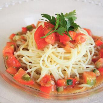 アメーラトマトの冷製パスタ